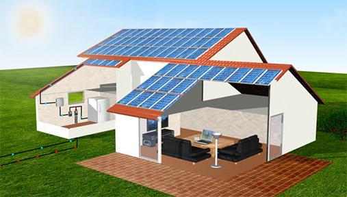 panele fotowoltaiczne schemat dom